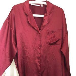 VICTORIA SECRET button nightshirt Burgundy